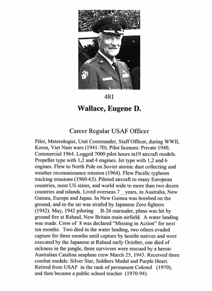 Wallace, Eugene D.