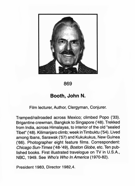 Booth, John N.