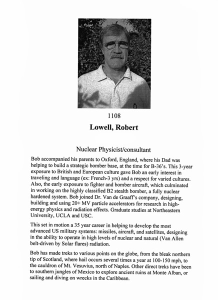Lowell, Robert