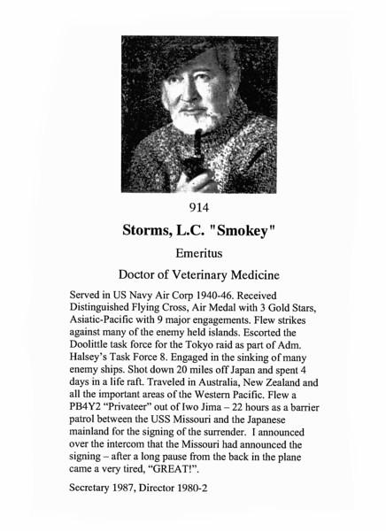"""Storms, L.C. """"Smokey"""""""