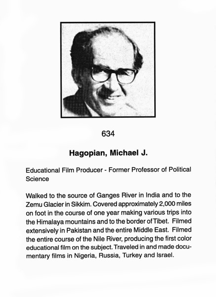 Hagopian, Micheal J.