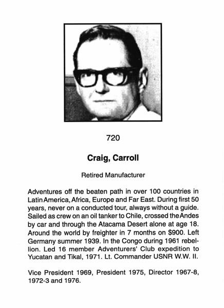 Craig, Carroll