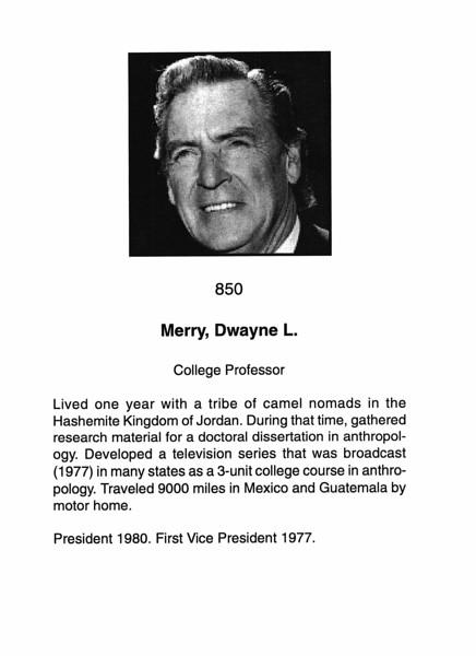 Merry, Dwayne L.