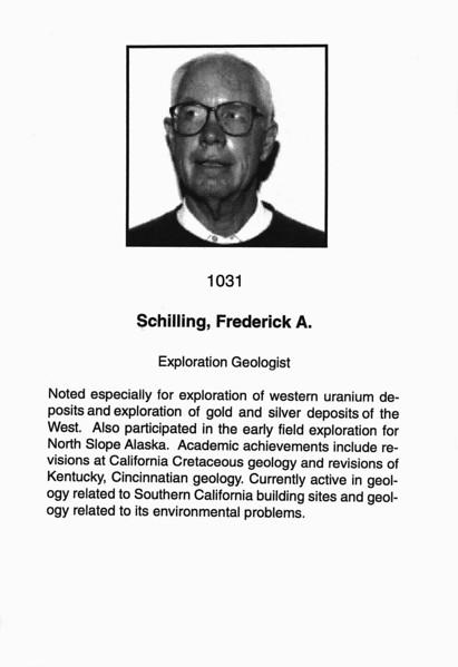 Schilling, Frederick A.