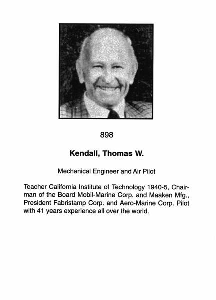 Kendall, Thomas W.