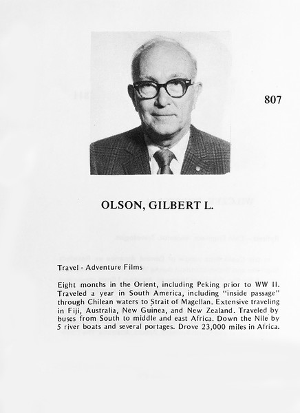 Olson, Gilbert
