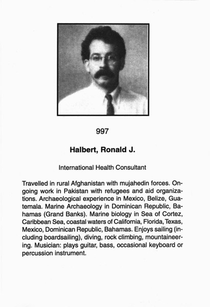 Halbert, Rondald J.
