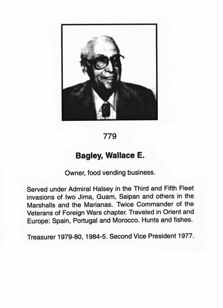 Bagley, Wallace E.