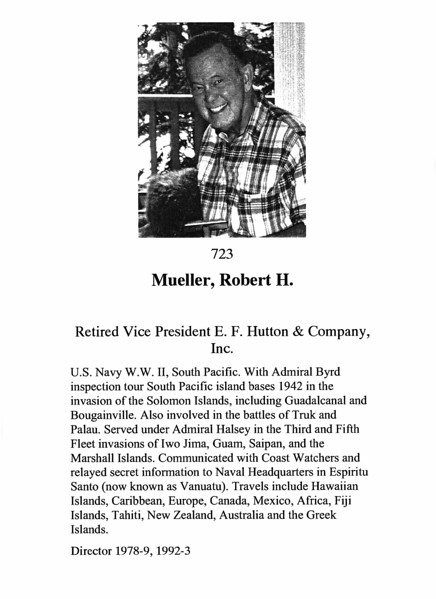 Mueller, Robert H.