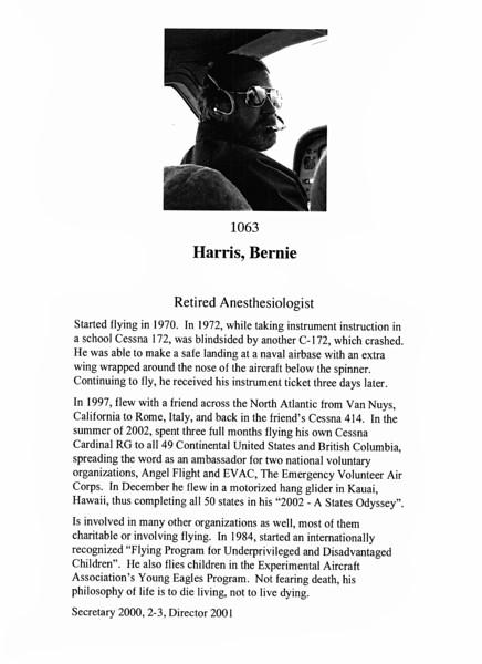 Harris, Bernie