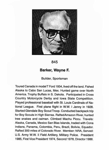 Barker, Wayne F.