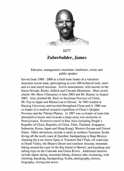 Zuberbuhler, James