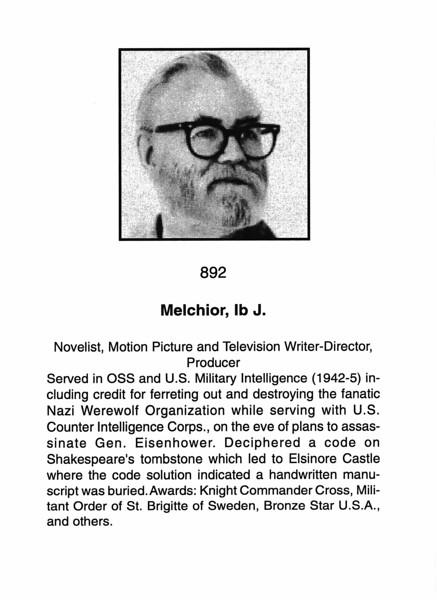 Melchior, Ib J.