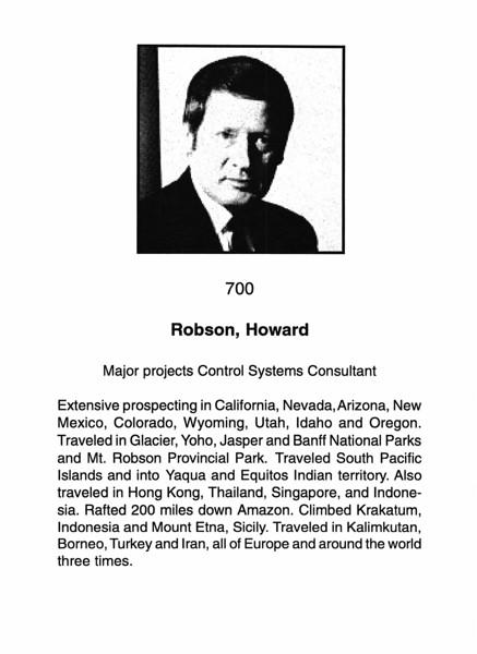 Robson, Howard