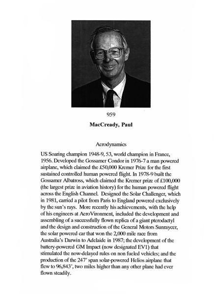MacCready, Paul