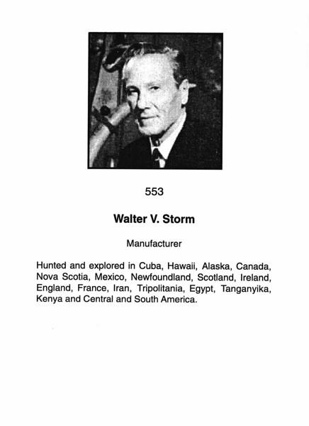 Storm, Walter V.