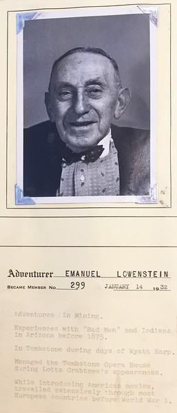Lowenstein, Emanuel