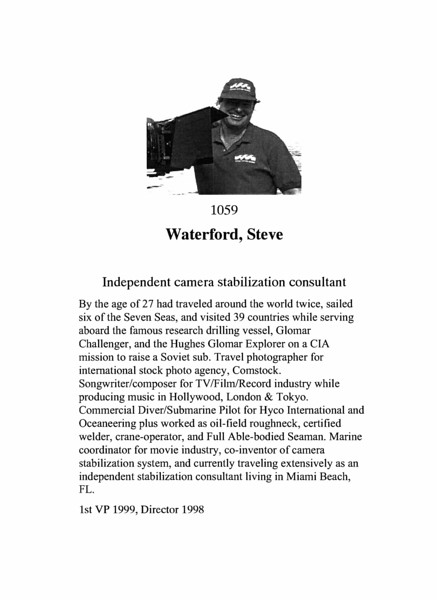 Waterford, Steve