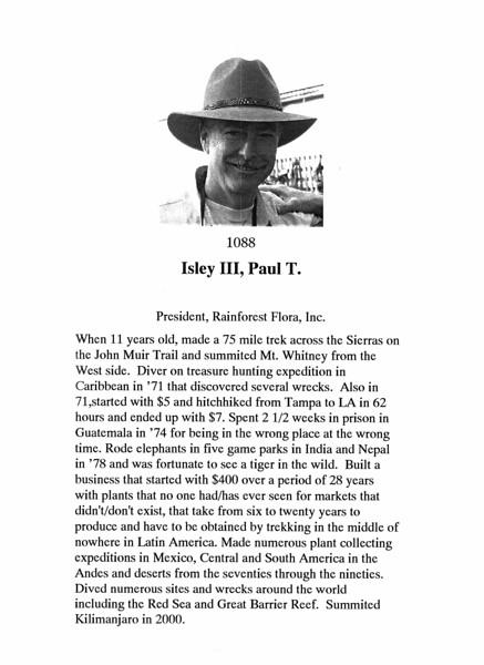 Isley III, Paul T.