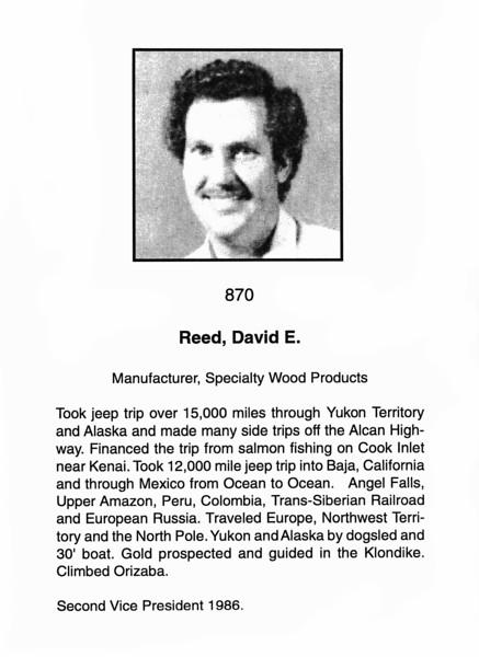 Reed, David E.