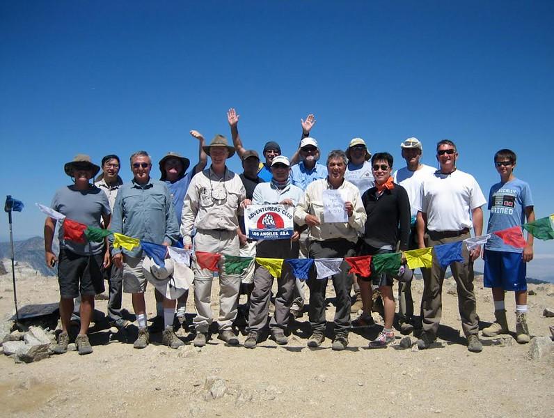 Celebrating 70th birthday of Shane Berry, atop Mt. Baldy, 10,064 feet.