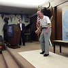 Sid Hallburn, 93 years young and WWII veteran, tap dances for audience