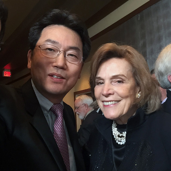 With Dr. Sylvia Earle, American marine biologist, explorer, author, and lecturer, and a National Geographic explorer-in-residence.  Dr. Earle was the first female chief scientist of the U.S. National Oceanic and Atmospheric Administration, and was named by Time Magazine as its first Hero for the Planet in 1998.