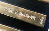 Adventurers' Club member #959, Paul MacCready, name on the Howard Hughes Memorial Award