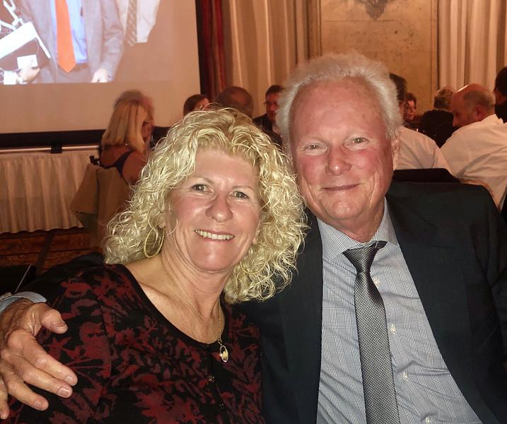 Alan and Cindy Burns<br /> Annual Howard Hughes Memorial Award Dinner of the Aero Club of Southern California, at the Jonathon Club, Los Angeles<br /> Feb. 13, 2109