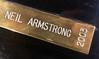 Neil Armstrong's name on the Howard Hughes Memorial Award