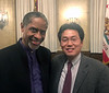 Tim Russ & Kevin<br /> Aero Club of Southern California Annual Dinner<br /> Jonathon Club, Los Angeles<br /> Feb. 13, 2109