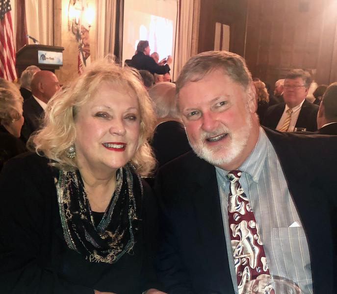 Gloria and Ken Hudson<br /> Annual Howard Hughes Memorial Award Dinner of the Aero Club of Southern California, at the Jonathon Club, Los Angeles<br /> Feb. 13, 2109