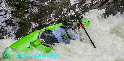 """""""Green River Race Narrows Extreme Wildwater Mayhem & Chaos Sequence - Jake Greenbaum - overall final rank number 27 with a time of 04:49  - in a Liquidlogic Stinger Long K1 forward bracing within the """"Speed Trap"""" near the base of class 5+ Gorilla The Flume rapids within the Green River Narrows"""" (USA NC Saluda; Obst FAV Photos Nikon D800 Sports Fun Extraordinaire Action Outdoors Image 5138)"""