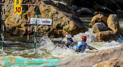 """CANOE DOUBLE or C-2 MEN  Individual McEWAN Devin and EICHFELD Casey of the USA - Final Rank 15th out of 38 C-2 teams - Semi-FINAL runs on 21 SEPT 2014 at the 2014 'Deep Creek' World Championships at the Adventure Sports Center International site near Deep Creek Lake and McHenry MD USA (USA MD McHenry; Obst FAV Photos Nikon D800 Adventures in Paddlesport Competition Images)"