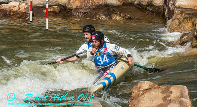 CANOE DOUBLE or C-2 MEN  Individual HURD Eric and LARIMER Jeff of the USA - Final Rank 32 out of 38 C-2 teams - qualification run on 21 SEPT 2014 at the 2014 'Deep Creek' World