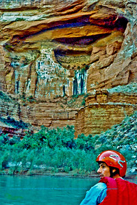 Canyon grotto view from a canoe at mile thirty-five (35) of the Colorado River within Grand Canyon National Park (USA AZ Grand Canyon)