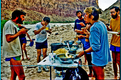 Savoring Dinner at Badger Camp Mile Eight (8) of the Colorado River within Grand Canyon National Park (USA AZ Grand Canyon)