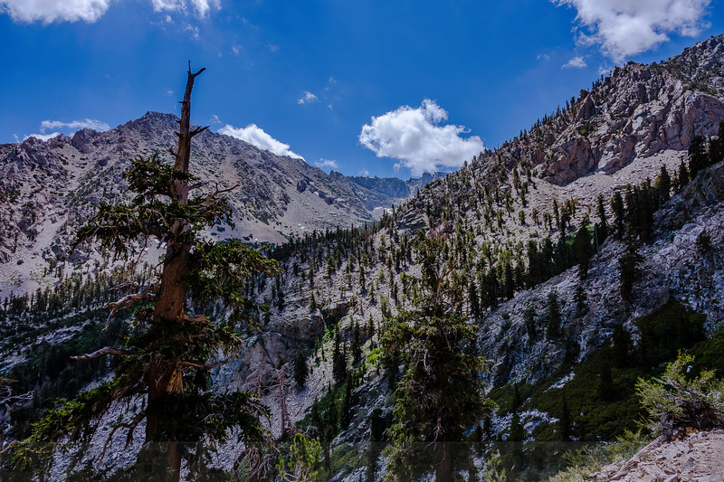 Independence Peak from the Kearsarge Pass Trail