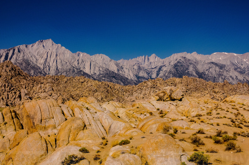 The Alabama Hills and the Sierra Nevada