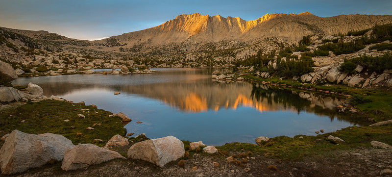 Last Light on Mount Stanford From the Pioneer Basin