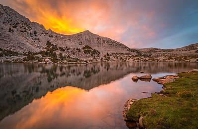 Sunset Over Mount Crocker in the Pioneer Basin