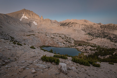 Dawn Over Trail Lake and the Mono Divide