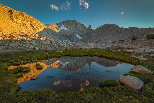 Alpenglow in the Upper Trail Lake Basin