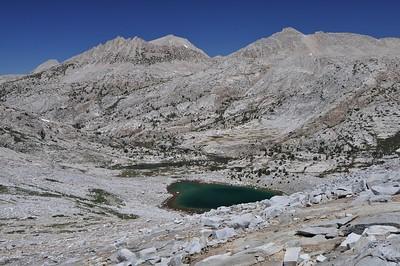 Stub Lake While Climbing to Seven Gables Pass