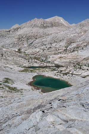 Stub Lake While Climbing to Seven Gables Pass