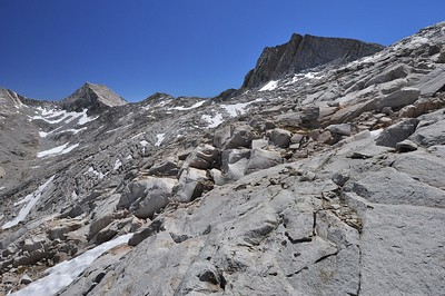Climbing to Seven Gables Pass