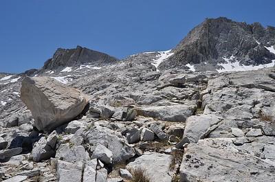 Climbing to Seven Gables Pass