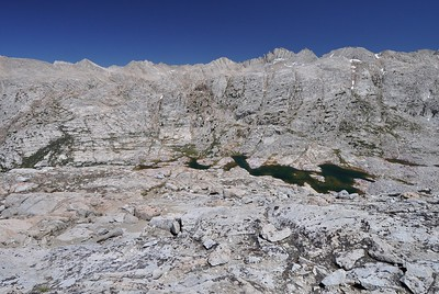 Seven Gables Lakes from the Pass