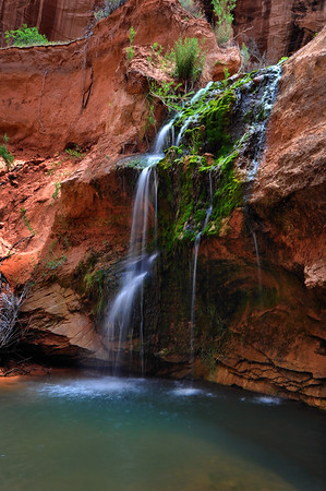 Waterfall in Davis Gulch Glen Canyon National Recreation Area, Utah.  Copyright © 2010 All rights reserved