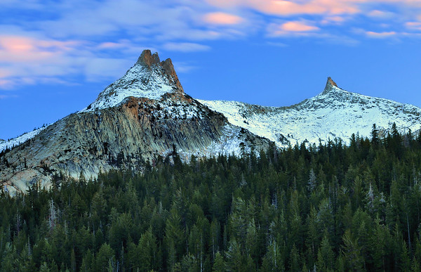 Unicorn Peak (sunset). Eastern Sierra Nevada Range, California.  Copyright © 2010